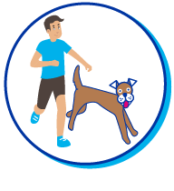 Picto course chien