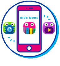 """Picto de l'application """"Kids Mode"""" sur votre appareil électronique"""