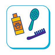Brosse, peigne et shampoing pour chat