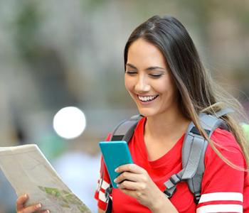 Adolescents téléphone étranger