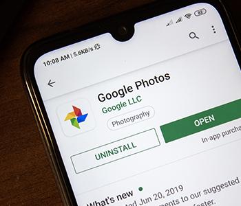 Google Photos sur téléphone Android