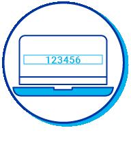 Pictogramme du mot de passe d'un ordinateur