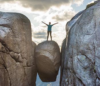 Un selfie pour ceux qui ont de l'équilibre