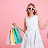 femme shopping black friday